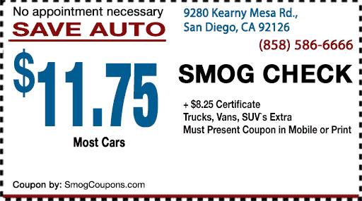 Print Smog Coupon  Coupon Disclaimers